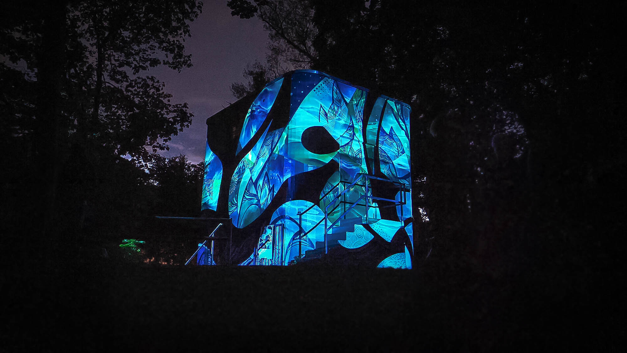 Metimotus - Projection Mapping Mural