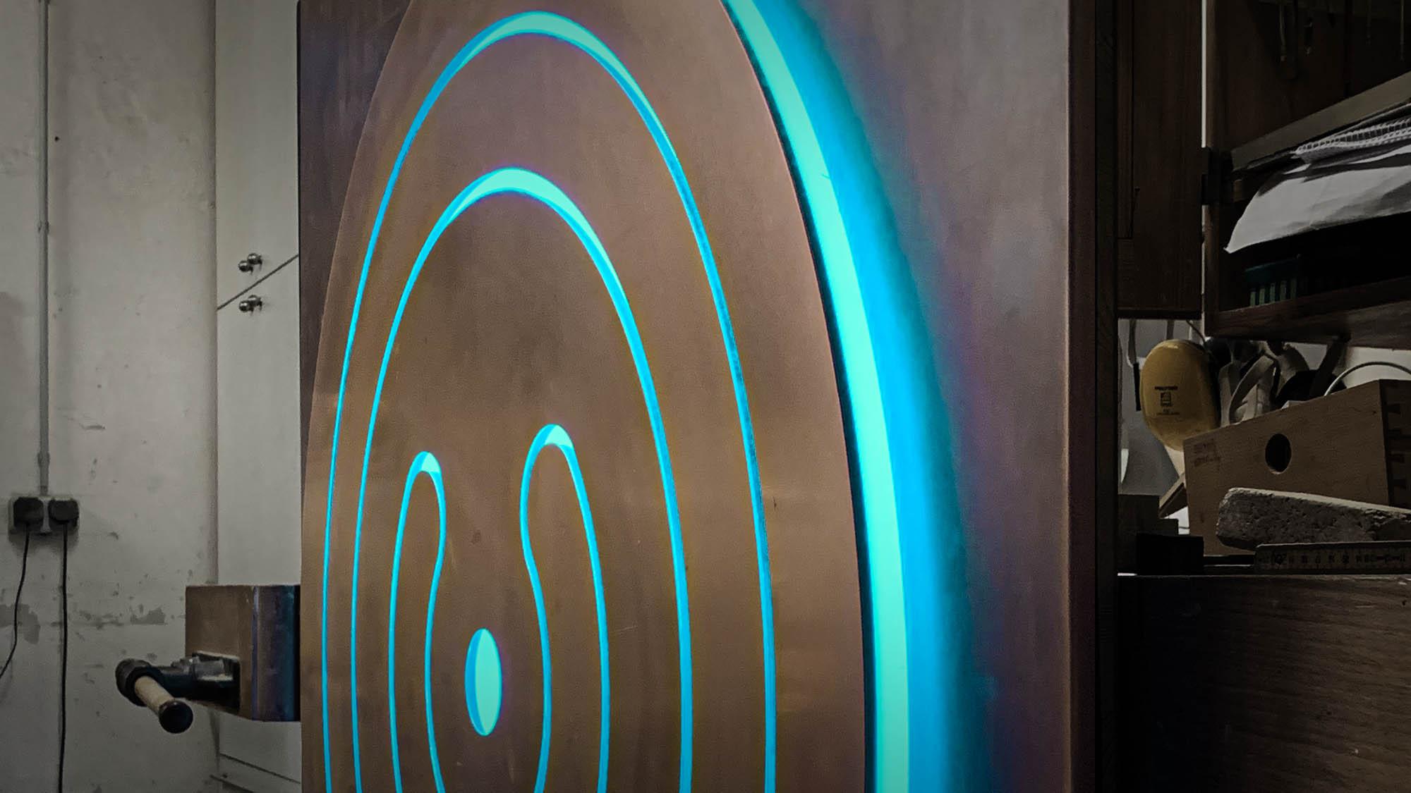 Led_Interior_Design_Light_Installation_10 Led Designer Lamp, copper, art, new media art, led art, light art, light artist